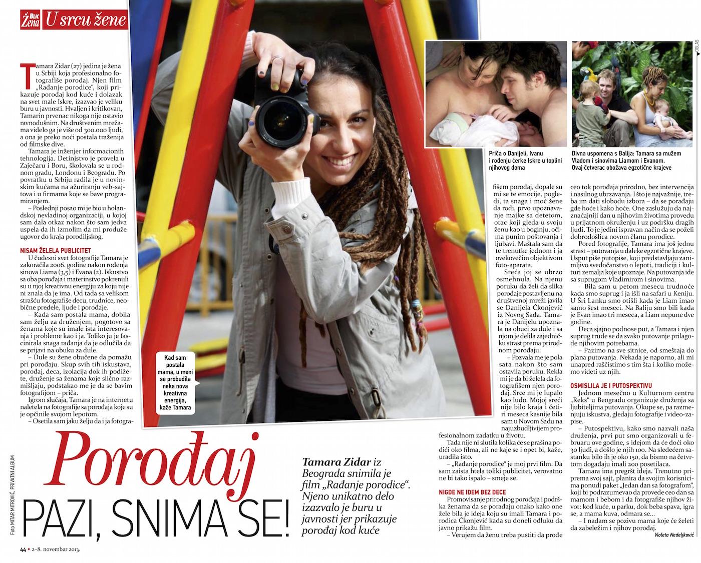 Tamara Zidar Žena blic